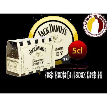 J.DANIEL´S HONEY PACK 10 UNIDADES