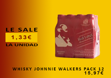 Whisky Johnnie Walker Pack 12